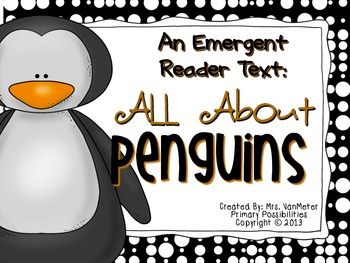 Are you looking for a simple emergent reader text to go with a unit on penguins? This emergent reader text includes easy to read sight words and a repetitive pattern for your emerging readers. All pages, images and text are black and white to save on ink.