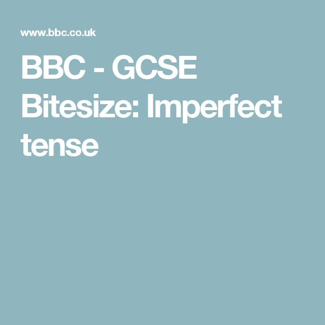 12 best Imperfect Tense images by German Language Skills on ...