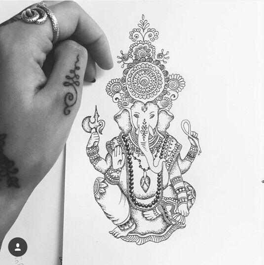 Tattoo Designs Ganesh: 190 Best Ganesha Tatoo Images On Pinterest