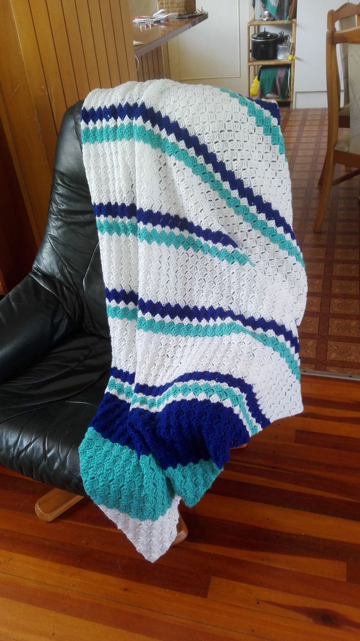 2016 I made this crochet blanket for my sister for Xmas.  Corner to corner pattern.