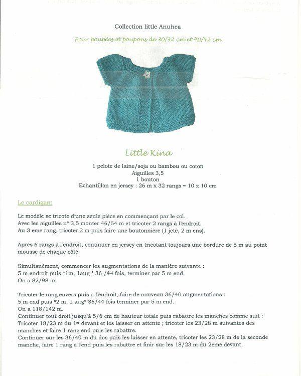 tricot poupe cardigan - Buscar con Google
