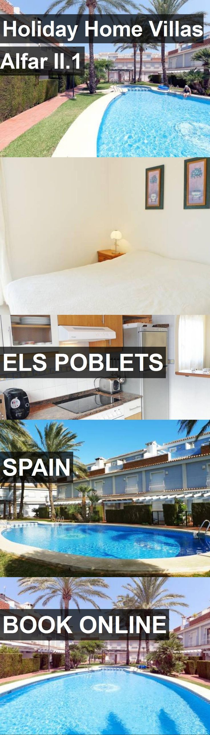 Hotel Holiday Home Villas Alfar II.1 in Els Poblets, Spain. For more information, photos, reviews and best prices please follow the link. #Spain #ElsPoblets #travel #vacation #hotel
