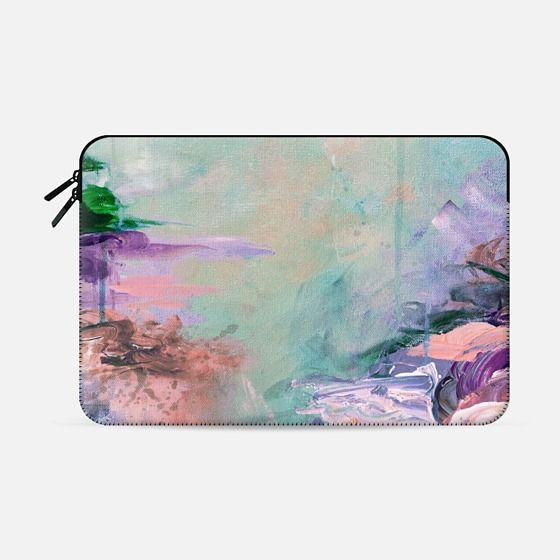 """Winter Dreamland 2"" by Artist Julia Di Sano, Ebi Emporium on @casetify Fine Art Abstract Acrylic Painting Colorful Watercolor Rainbow Multicolor Brushstrokes Whimsical Plum Orchid Purple Turquoise Aqua Blue Brown Peach Coastal Ocean Macbook Sleeve Cover #macbook #tech #sleeve #painting #watercolor #macbookpro #macbookair #fineart #art #colorful #Casetify #coastal #turquoise #aqua #techdevice Get $10 off using code: 5K7VFT"