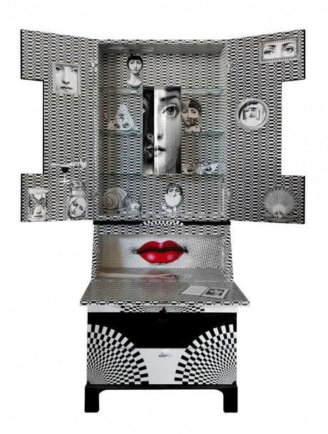 Piero Fornasetti. Cabinet with lips.