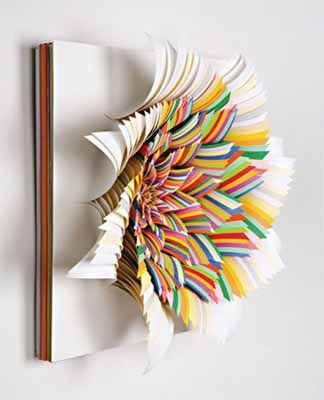 paper flowers craft ideas made with colorful paper for wall decoration