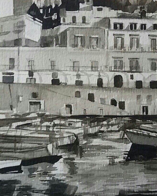 #watercolours #italy #sea #ponza www.sandragianesini.com