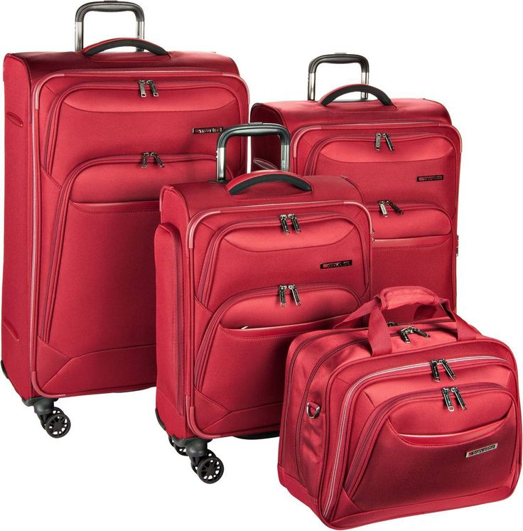 travelite Kendolite Trolley Set + Bordtasche Rot - Trolley-Set