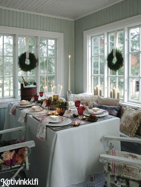 Romanttista maalaistunnelmaa joulukattauksessa | Kotivinkki