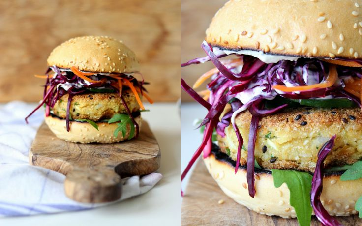 Mikyna v kuchyni: Falafel burger s tahini dresingem