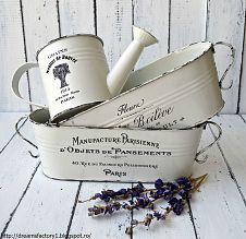 """""""French Made"""" metal pot Age borders with black acrylic and apply waterslide decal paper with desired graphic - love the images from The Gra..."""