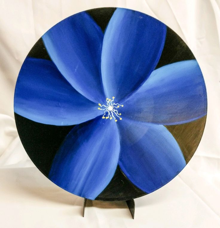 Floral painting on vinyl