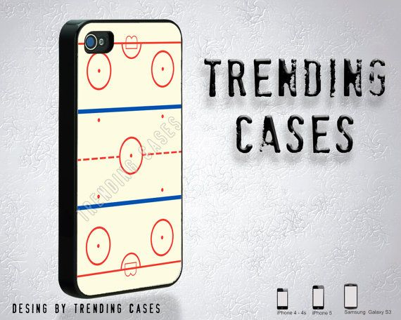 Ice Hockey Rink iPhone case for iPhone 4, iPhone 4s, iPhone 5- Samsung Galaxy S3 - Gift- Gadget on Etsy, $13.90