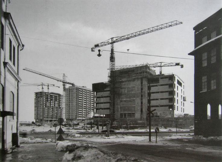Merihaka under construction, 1972.