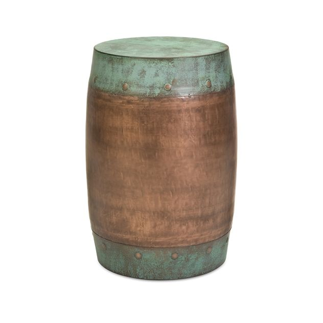 copper garden stool. The Rania Stool Features A Solid Iron Foundation With Copper-plated Design. Copper Garden P