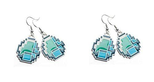Official Licensed Minecraft Diamond Earring x 2 Pairs @ niftywarehouse.com #NiftyWarehouse #Minecraft #Geek #Gaming #VideoGames
