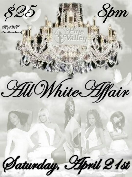 All white party event flyer my 50 birthday party for Summer white party ideas