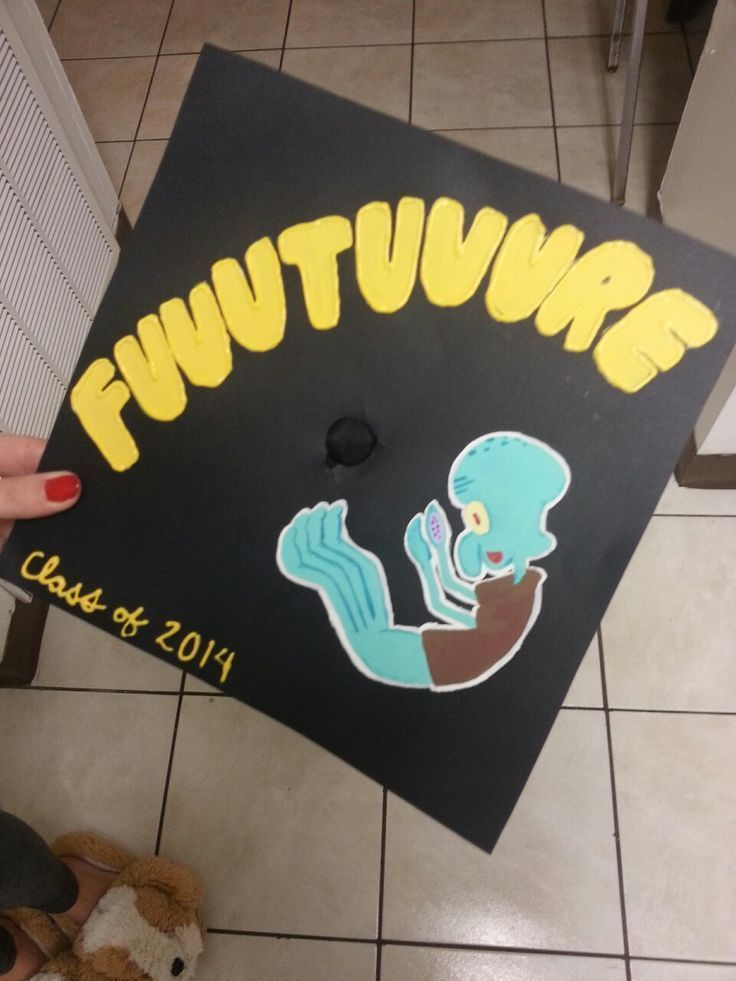 Fuuuuuuture Squidward graduation cap - #fuuuuuuture #graduation #squidward - #new - #fuuuuuuture