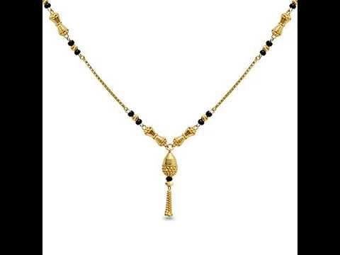 5a9347359dadc Light Weight Gold Black Beads Mangalsutra Designs Under 12 Gram and ...