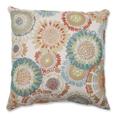 Pillow Perfect Maggie Mae Aqua Polyester Throw Pillow & Reviews | Wayfair