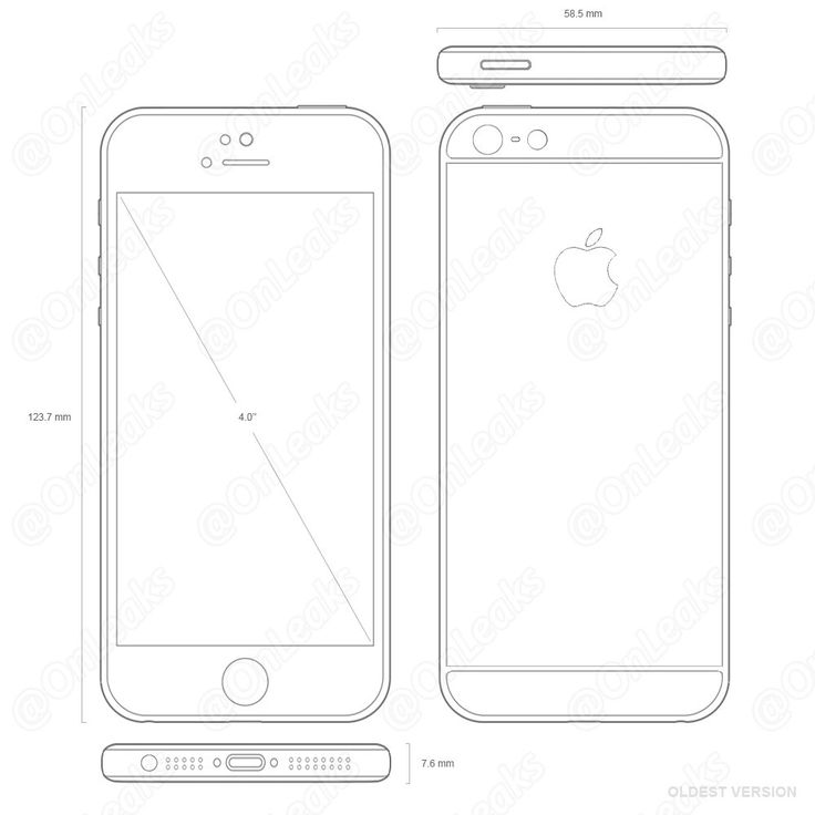A sketch confirming design of Apple iPhone 5se appears online