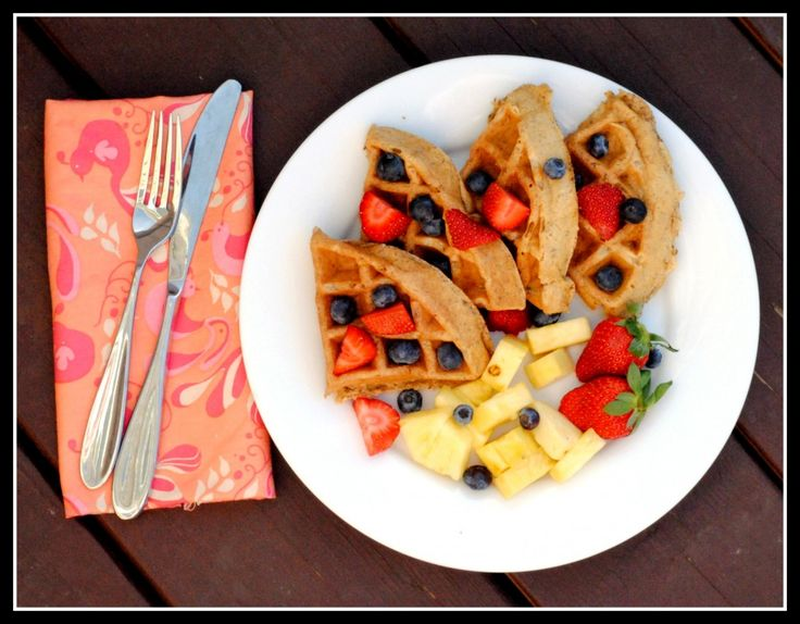 Maple, Walnut, and Flaxseed Waffles (or Pancakes) #heartmonth