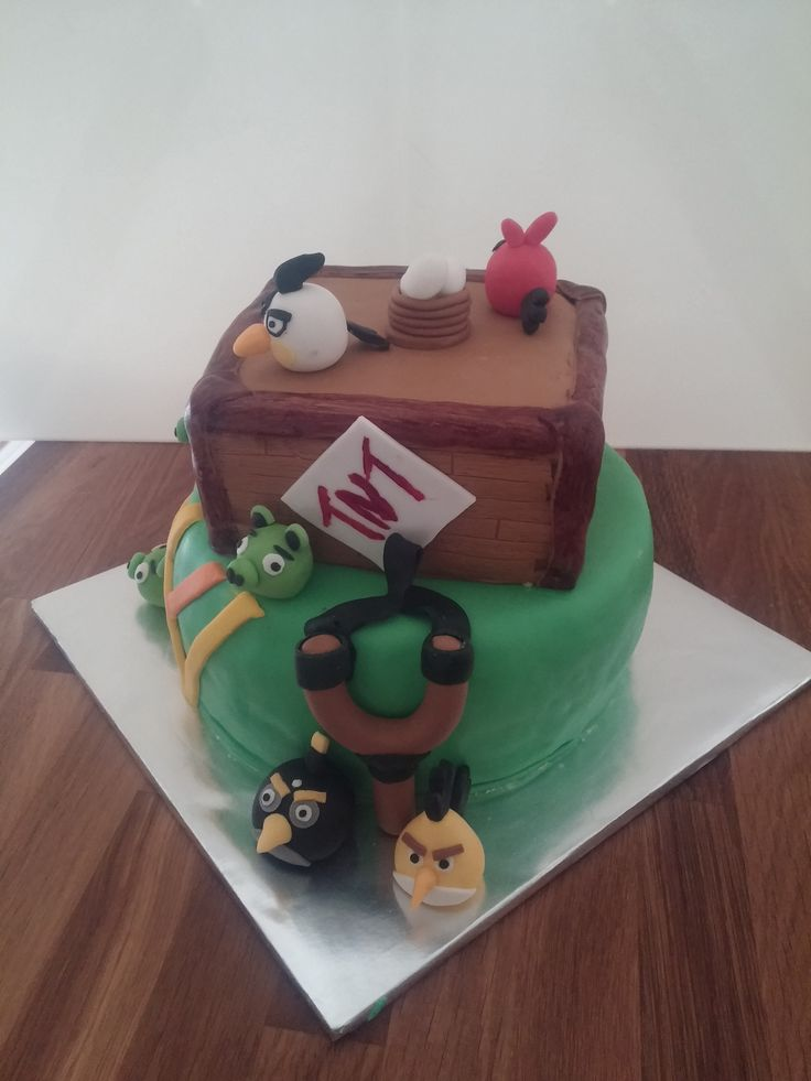 Angry birds cake for birthday