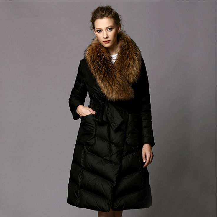 Winter Down Jackets 2015 High Quality Brand Women Slim Thick Down And Parkas 2015 Jacket With Fur Long Winter Coat Women