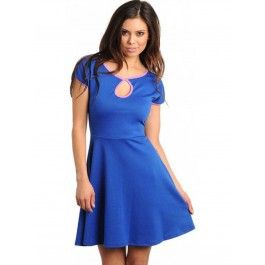 Vestido Skater Azul Electrico MU317