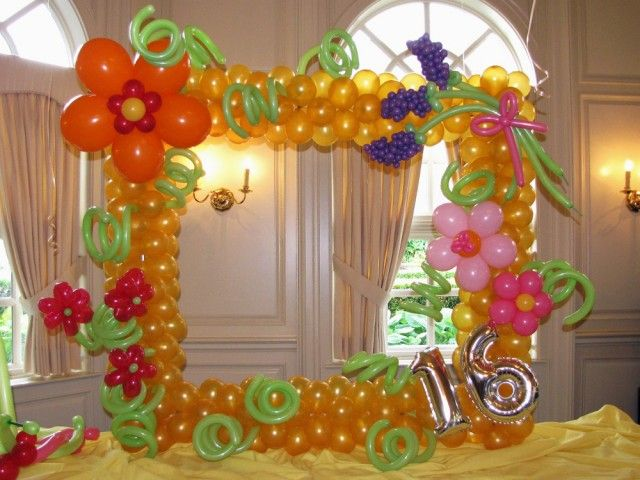 40 best balloon picture frames images on pinterest frame for Balloon arch frame kit party balloons decoration