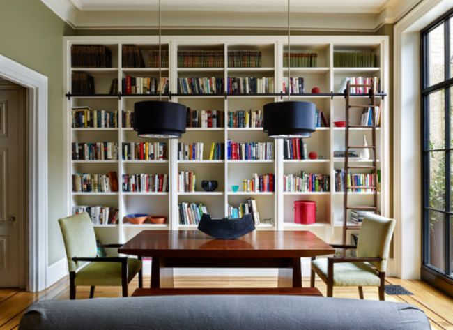 9 Space-Smart Ways to Fit Two Rooms in One Dining Room/Library