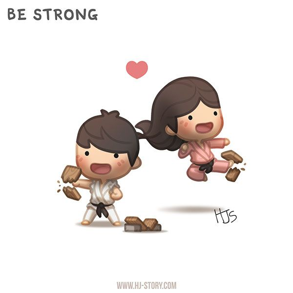 "Check out the comic ""HJ-Story :: Be Strong"" http://tapastic.com/episode/56517"