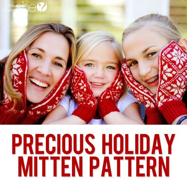 Precious mitten pattern  #howdoesshe #pinterestebook #pinteresttipsandtricks howdoesshe.com