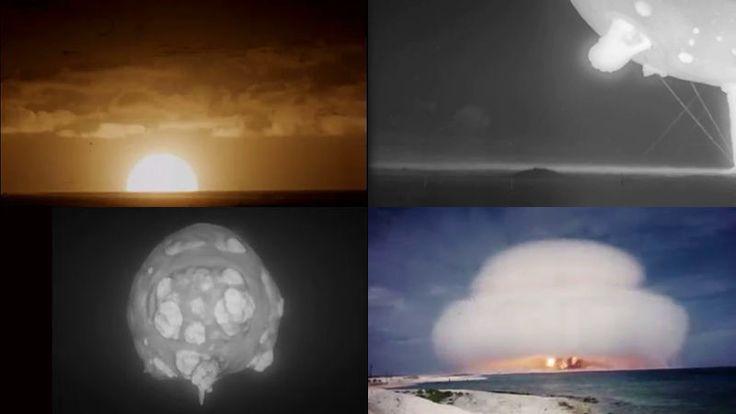 1945年から1962年にかけてアメリカが実施してきた核実験の様子を高速度撮影で収めたフィルムが、55年ぶりにアメリカ政府の機密解除を受けて一部が公開されました。年月を経て劣化が進んだフィルムは復