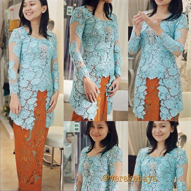 "967 Likes, 32 Comments - Vera Anggraini (@verakebaya) on Instagram: ""...finale fitting #kebaya #midodareni @adelindhivi 💙🙏🙏💋 by #verakebaya"""