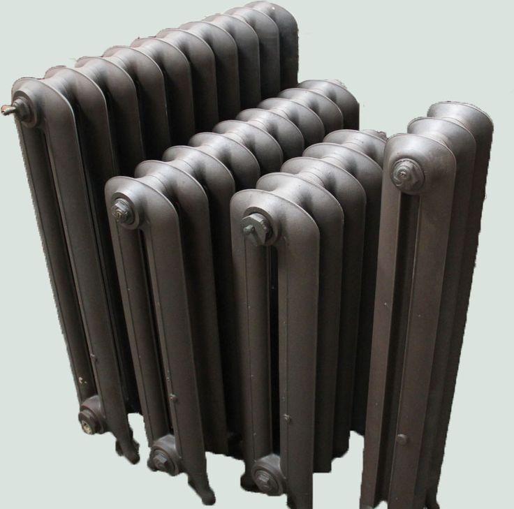 Les radiateurs anciens lisses, la forme des radiateurs sans motifs