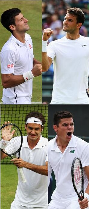 It's the Grand Slam champs vs Young guns. Take a look ahead at the semi-finals on Friday at #Wimbledon Championships.