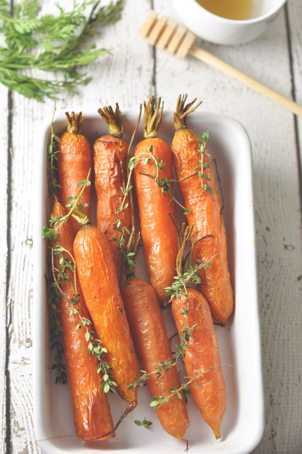 Honey Roasted Carrots from @Casey Hill - A Touch of Zest