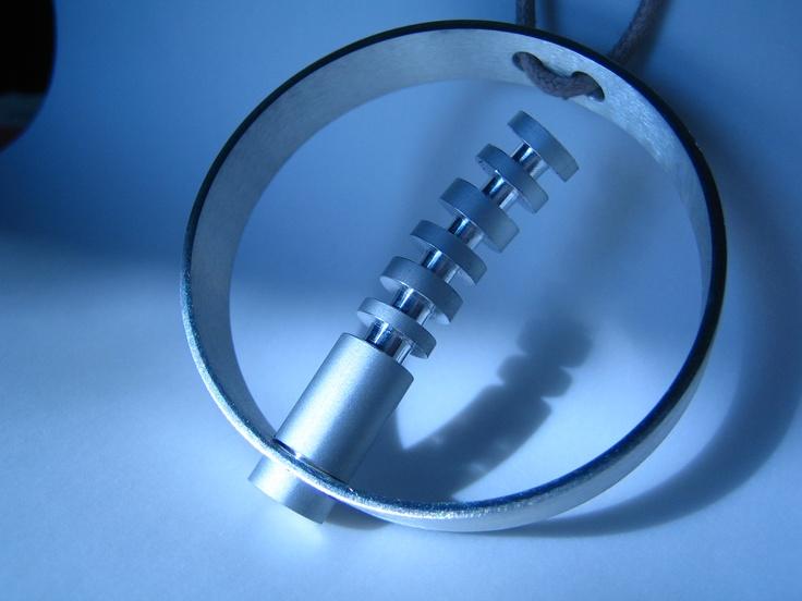 silver / aluminium pendant