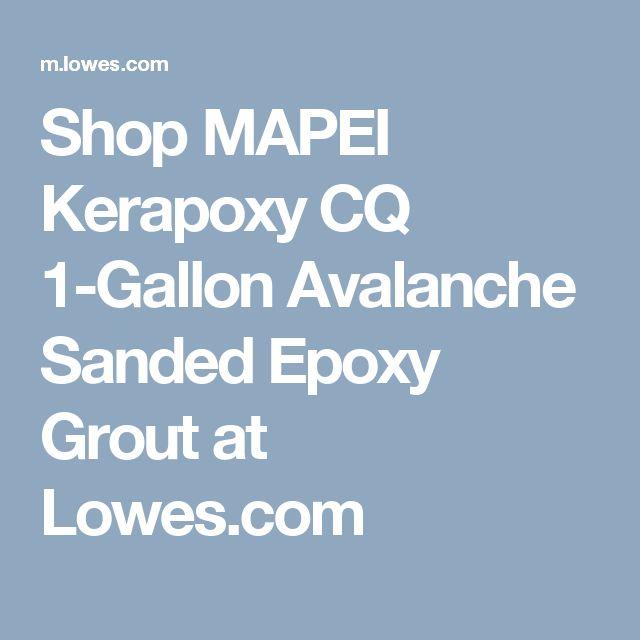 Shop MAPEI Kerapoxy CQ 1-Gallon Avalanche Sanded Epoxy Grout at Lowes.com