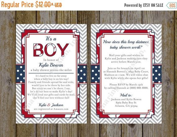 find this pin and more on baby shower long distance baby shower invitation baseball
