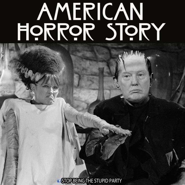 Funniest Memes Reacting to Sarah Palin's Endorsement of Trump: Palin and Trump: American Horror Story