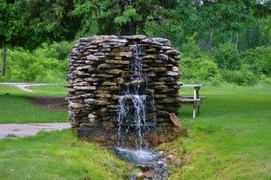 artesian well. they exist in the valley-just without the green grass.
