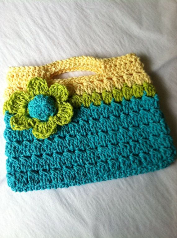 Flower Crochet Bag : ... Purse, Crochet Child Purse with Flower, Crochet Purse, Summer Purse