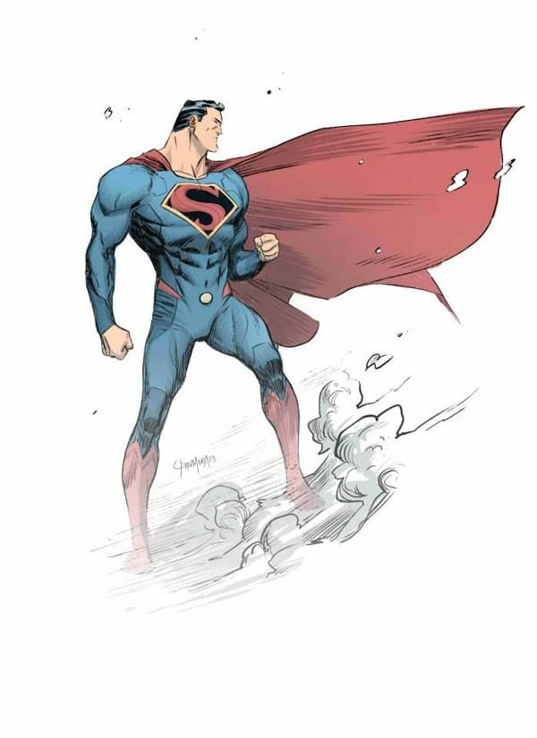 Superman by Dan Mora. Website link doesn't actually go to the art as I can't find the original source. But at least this master piece is credited to it's rightful maker.