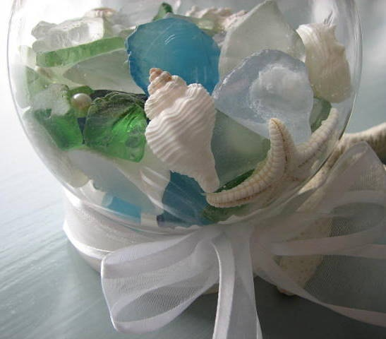 Beach Decor Seashell And Sea Glass Beach Globe
