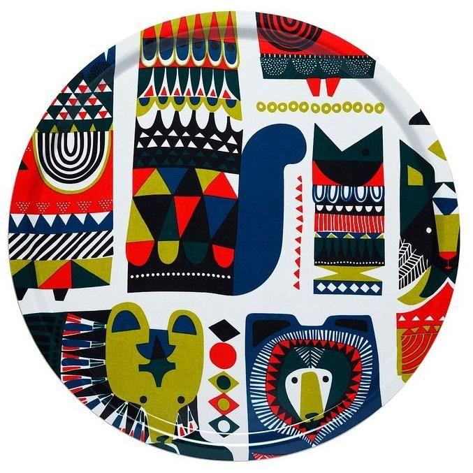 A tray from Marimekko featuring Sanna Annukka's Kukkuluuruu pattern.