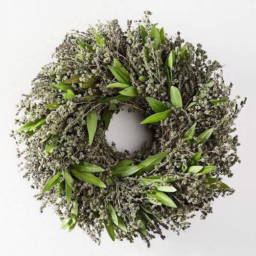 west elm Savory + Marjoram Wreath
