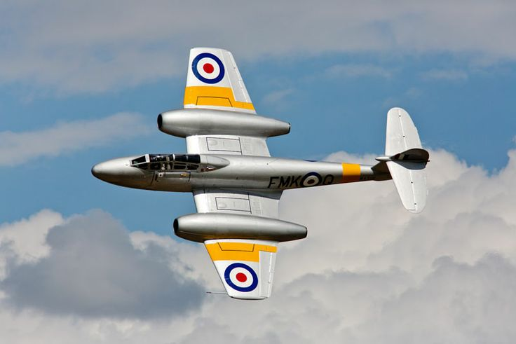 Gloster Meteor at Dunsfold Wings & Wheels Show, England. Sorry lack of captioning on site so not sure if the NF, trainer or fighter version, or which group owns this rare bird.