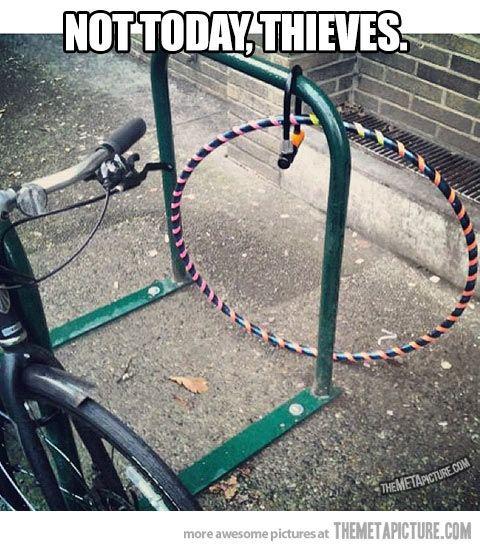 This hula hooper has taken all the precautions…