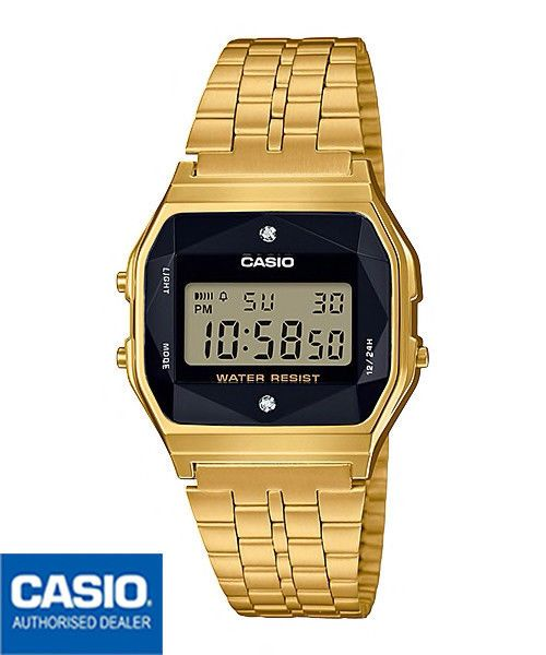 ea8ba33dbdf6 CASIO A159WGED-1EF A159WGED-1 ORIGINAL JAPAN DIAMONDS VINTAGE DORADO  DIAMANTES